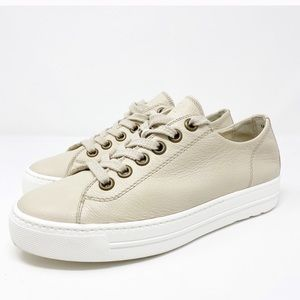 Paul Green Ally Leather Low Top Sneaker Size 7.5